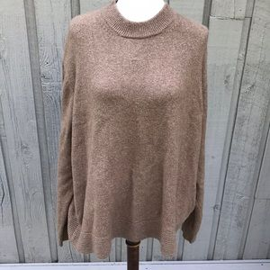 WHO WHAT WEAR Camel Boxy Cropped Soft Sweater